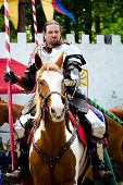 Portrait of knight at Renaissance festival