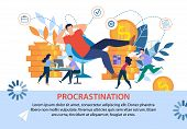 Lazy Office Worker Procrastinating Postponing Work While Coworkers Doing Hard Business Tasks, Earnin poster