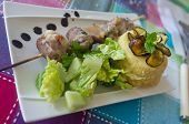 Meat Rolls And Potatoes Gateaux