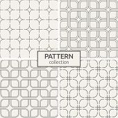 Set Of Four Seamless Patterns. Geometric Lattice Patterns. Modern Stylish Texture. Repeating Geometr poster