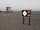 Dangerous Beach At Dusk