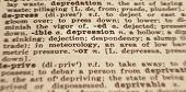 Depression Wörterbuch
