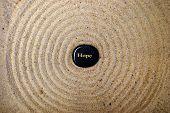 Hope Rock On Sand - Very Zen poster