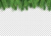 Merry Christmas Festive Background With Realistic Branches Of Fir Tree. Winter Party Invitation Temp poster