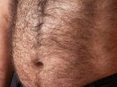 An image of a big hairy belly poster