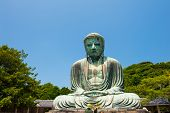 picture of kanto  - Famous Great Buddha bronze statue in Kamakura - JPG
