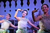 Bangkok - Dec 16:traditional Thai Dance At Phra Athit Walking Street,
