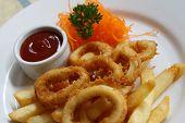 Calamari And Chips Meal