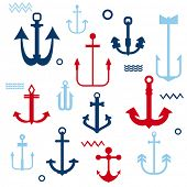 Various Anchor Collection - for your logo, design, scrapbook - in vector