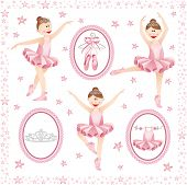 Pink ballerina digital collage