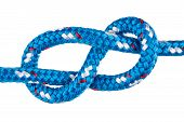 Figure Eight Climbing Knot In Blue Rope