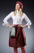 foto of kilt  - Scottish traditions concept with person wearing kilt - JPG