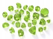 picture of peridot  - Peridot or chysolite gems isolated on white background - JPG