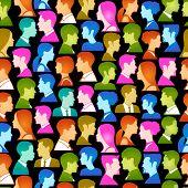 Vector fondo transparente consiste en muchos de los iconos de los seres humanos modernos