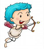 Ilustration of Mr. cupid on a white background