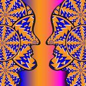 Vase Faces    (motion illusion)