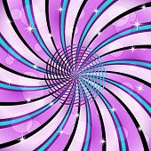 Sunburst With A Center Spiral