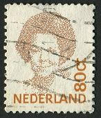 NETHERLANDS - CIRCA 1991: A stamp printed in Netherlands shows image of Beatrix (1880), Queen regnan