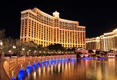 LAS VEGAS - DEC 27: Bellagio hotel and casino on December 27, 2012 in Las Vegas. Nevada casino's  revenue in 2012 hit 10.8 billion USD