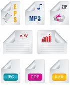 Extensión de archivo de icono de documento