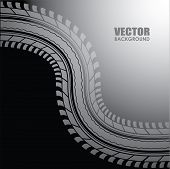 foto of motocross  - vector background  - JPG