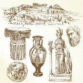 hand drawn collection - ancient greece