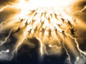 stock photo of rapture  - The Rapture of People out of the world - JPG