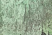 Scratched and weathered green patina as background