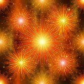 Fireworks, seamless