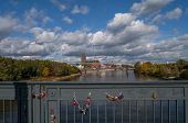 Stars Bridge And Maridge Locks In Magdeburg, Germany