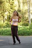 Beautiful Blond Fitness Girl