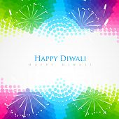 beautiful colorful happy diwali festival greeting
