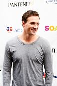 NEW YORK- OCT 8: Olympic gold medalist Ryan Lochte attends Day 1 of 'Swim For Relief' benefiting Hur