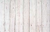 stock photo of wooden fence  - white wood texture background - JPG