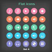 Vector Round Flat Icon Set ?4
