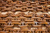 Many Of Rusty Metal Chains