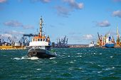 Tugs Vessel In The Port Of Gdynia, Poland.