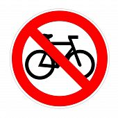 No bike sign