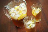 Ice tea and pitcher