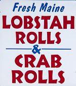 Lobster rolls sign
