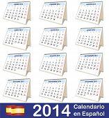 2014 Calendar Spanish