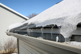 foto of soffit  - Ice on roof and gutters - JPG