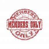 Members only grunge rubber stamp