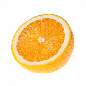 foto of half  - Half orange fruit on isolated white background - JPG