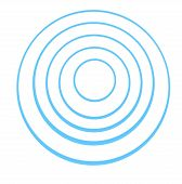 Concentric  Rings On A White Background