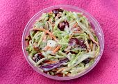 Close-up With Coleslaw