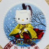 JAPAN - CIRCA 2000: A stamp printed in japan shows hello kitty, circa 2000