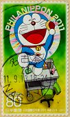 JAPAN - CIRCA 2011: A stamp printed in japan shows Doraemon , circa 2011