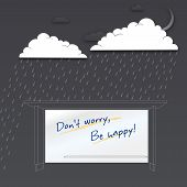 Don't worry be happy. Positive poster