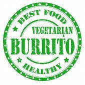 Vegetarian Burrito-stamp